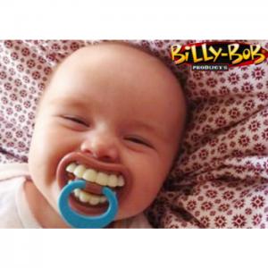 chupete con diseño de dientes