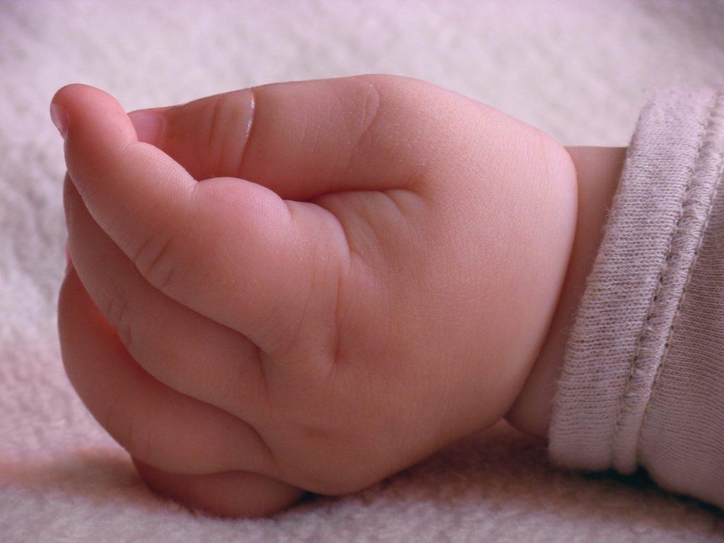 puño de bebe en color