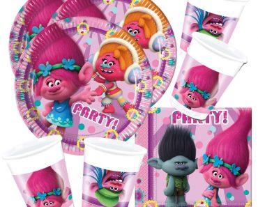 set decoracion cumpleaños trolls