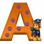 letra A patrulla canina chase