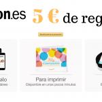 5 euros gratis comprando cheques regalo Amazon